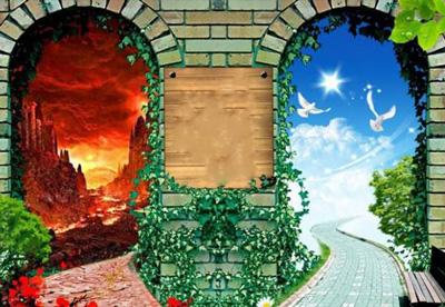 تعداد درهای بهشت و جهنم