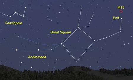 کهکشان آندرومدا در جوار صورت فلکی اسب بالدار, محل قرارگیری کهکشان آندرومدا