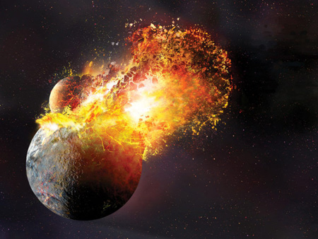 ماه باعث تبخیر زمین شد, نحوه تبخیر زمین