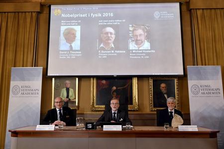 دستاوردهای برندگان نوبل,برندگان نوبل فیزیک 2016