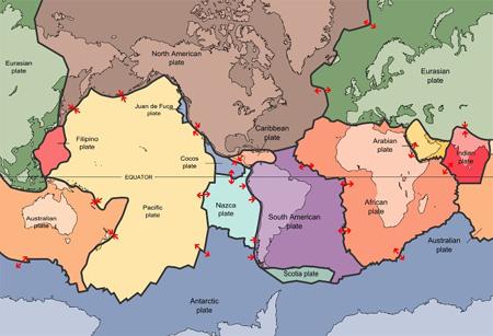 لایه های متفاوت زمین, صفحات تکتونیک زمین