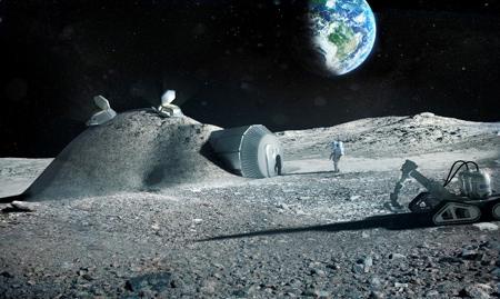 تصاویری از روستا ساخته شده در ماه,گزارش هایی از ماه