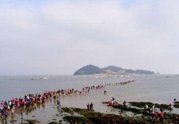 پدیده شکافته شدن دریا,جزیره چیندو