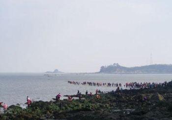 پدیده شكافته شدن دریا,جزیره چیندو
