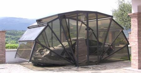 گاراژ GazeBox,ویژگیهای گاراژ GazeBox,گاراژ با سقف تاشو