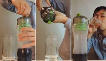 تبدیل نوشابه به آب,بطری تصفیه آب اختراعات جدید