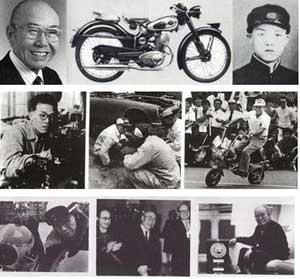 زندگي نامه سوئي شيرو هوندا,زندگينامه موسس شركت هوندا,تاريخچه شركت موتورسيكلت سازي هوندا