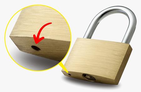 دانستنی های جالب,کاربرد سوراخ زیر قفل