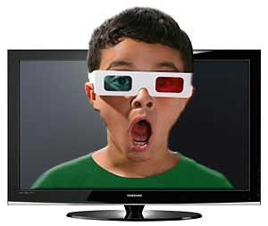 عينك ويژه براي تماشاي سهبعدي تلويزيون