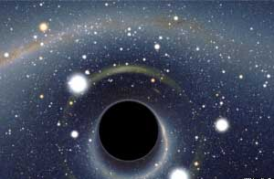 سیاه چاله عجیب , کهکشان