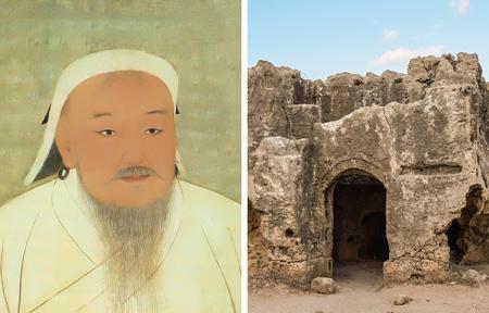 کشف شهر گمشده در صحرای کالاهاری, مقبره چنگیز خان