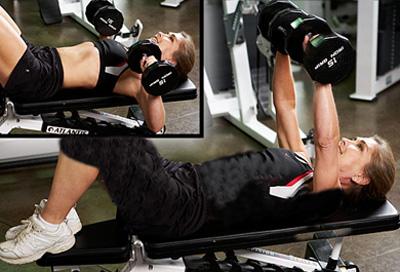 ورزش برای بزرگ شدن سينه,ورزش بزرگ کردن سینه, ورزش سينه با دمبل