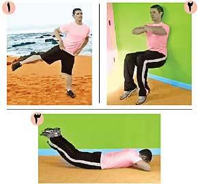 حركاتی برای تقویت عضلات ران, عضله چهارسر ران