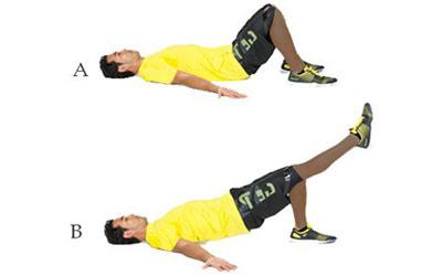 ورزشهای مخصوص شکم, تقویت عضلات ران و شکم, سفت کردن عضلات باسن