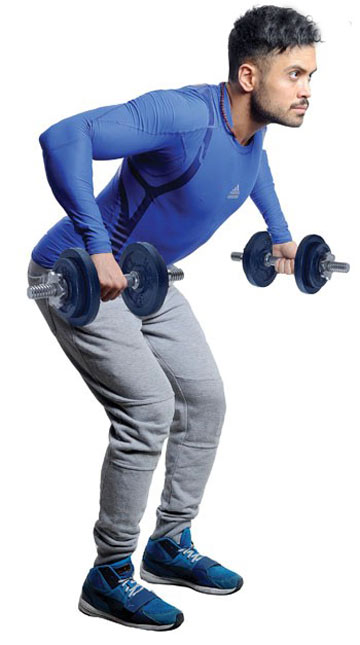 این حرکت به تقویت عضلات دست و کتف کمک می کند و برای رفع کیفوز مفید است