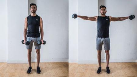تقویت عضلات بازو در خانه, ورزش برای چاق شدن بازو, ورزش با دمبل برای بازو
