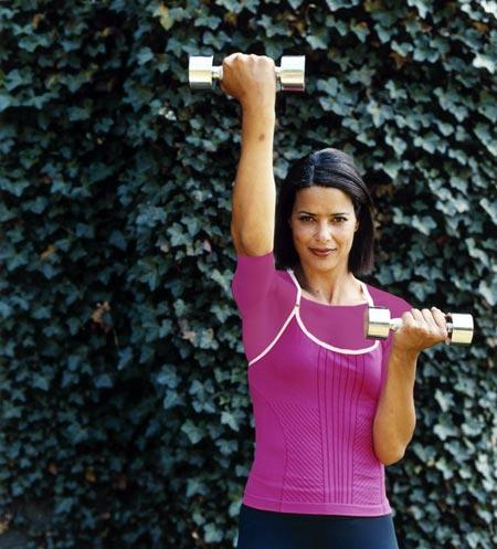 تقویت عضلات بالاتنه,کار با دمبل,کاهش وزن