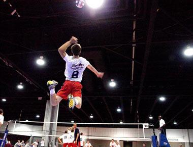 والیبال,تمرینات افزایش ارتفاع پرش در والیبال,اسپک زدن