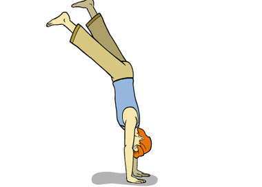 چگونگی ایستادن روی دستها در یوگا, آموزش حرکت ایستادن روی دست, حرکات یوگا