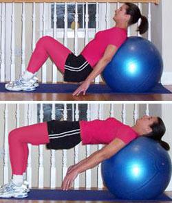 ورزش با توپ,بدنسازی با توپ,چگونگی انجام حركات با توپ