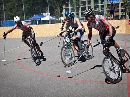 سایکل پولو,چوگان با دوچرخه,ورزش جدید سایکل پولو
