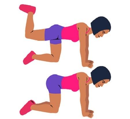 ورزشهای فرم دهی باسن, تقویت عضلات سرینی در خانه, تقویت عضله سرینی بزرگ