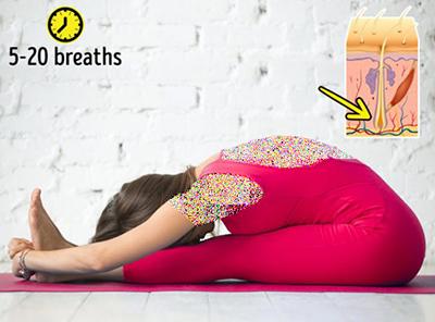یوگا برای جلوگیری از ریزش مو