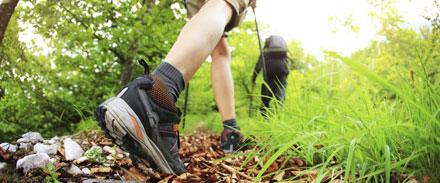 پياده روي,پياده روي مسير شيبدار,اصول راه رفتن در سر بالايي