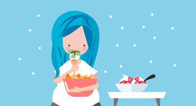 بستنی خوردن در زمان بارداری,بستنی خوردن در بارداری