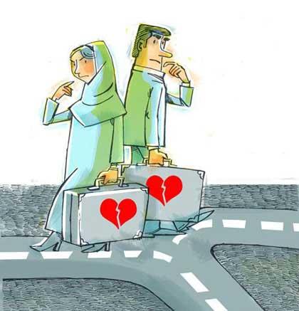 دلایل جدایی زوج ها